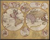 Antique Map  Globe Terrestre  1690