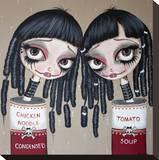 Tin Can Girls Tableau sur toile par Dottie Gleason