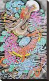Floral Dragon Tableau sur toile par Clark North