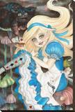 Alice Tableau sur toile par Rachel Walker