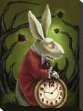 Levin White Rabbit Tableau sur toile par Diana Levin