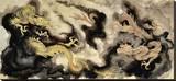 Heavenly Dragons Tableau sur toile par Clark North
