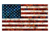 Drapeau américain Giclée premium par Stella Bradley