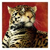 Fire Cat Giclée premium par Will Bullas