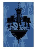 Chandelier 5 Blue