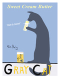 Gray Cat Giclée premium par Ken Bailey