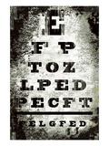 Eyechart Giclée premium par Tracy Hiner