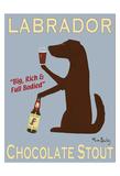 Labrador Chocolate Stout Reproduction pour collectionneurs par Ken Bailey
