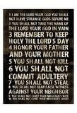 Full 10 Commandments Reproduction d'art par Jace Grey