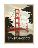 San Francisco: pont du Golden Gate Giclée par Anderson Design Group