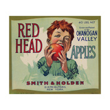 Fruit Crate Labels: Red Head Apples; Distributed by Smith and Holden  New York
