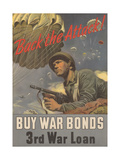 Center Warshaw Collection  Treasury Poster Back the Attack! BUY WAR BONDS