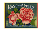 Fruit Crate Labels: Rose Brand Apples; Wenatchee Produce Company