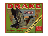 Fruit Crate Labels: Drake Brand Apples; Earl Fruit Company