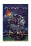 Center Warshaw Collection Centennial Expositions, New York World's Fair Reproduction d'art