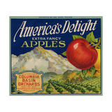 Business Americana Food; Fruit Crate Labels  Columbia Basin Orchards