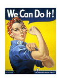 Military and War Posters: We Can Do It! J Howard Miller  1942