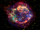 Stunning Composite Picture of Cas A   Infrared Image from the Spitzer Space Telescope