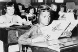 Racial Integration in Boston with Roxbury Girl in Near by Jamaica Plain School  1965