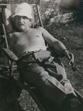 Albert Einstein Sunbathing in 1932