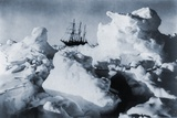 Ernest Shackleton's Ship  Endurance  in Weddell Sea Pack Ice in Antarctica  1916