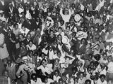 Harlem Crowd Celebrating Joe Louis' Against Victory Against Primo Carnera  1935