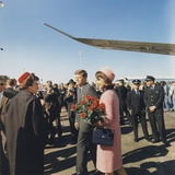 President and Jacqueline Kennedy Arrive at Dallas's Love Field  Nov 22  1963