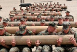 Navy SEAL Candidates Train with a 600-Pound Log  2011