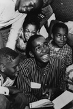 Ernest Green  of the Little Rock Nine  Shows His New Textbook to His Friends  1957