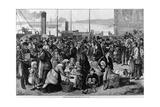 Emigrants Leaving Queenstown  Ireland  for New York  1874