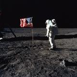 Apollo 11 Astronaut Buzz Aldrin During the First Lunar Landing  July 20  1969