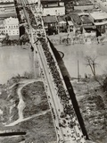 Aerial View of Edmund Pettus Bridge During the Selma Alabama Voting Rights Campaign  1965