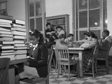 African American Students Reading at Bethune-Cookman College  Feb 1943