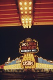 Neon Lights of the Golden Nugget Casino in Las Vegas Nevada  1970s
