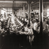 Women Working at Sewing Machines in Factory in Leicester  England  1923
