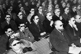 British Audience Wears Smoke-Colored Glasses to View a 3-D Movie in 1954