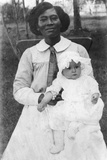 Future First Lady  Claudia Alta 'Lady Bird' Taylor with Her Nurse  Alice Tittle  1913