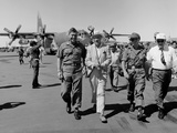 Bob Hope  Walks with Generals at Pleiku Air Base  South Vietnam  Dec 19  1966
