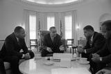 President Lyndon Johnson Meets with Civil Rights Leaders in Jan 18  1964