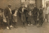 Street Gang of Cigarette Smoking Youths in Springfield  Ma 1916