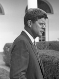 President John Kennedy in the White House Rose Garden Oct 24  1961