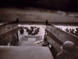 American Soldiers Wade from Landing Craft to the Omaha Beach  D-Day  June 6  1944