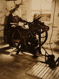 Elizabeth McCausland at her Printing Press  ca 1935; Archive of American Art
