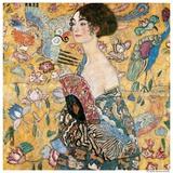 Woman with fan Reproduction d'art par Gustav Klimt