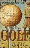 Enjoy Golf Wood Sign