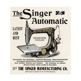 Advertisement for the Singer Automatic Sewing Machine  1890s
