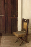 Father Junipero Serra's Chair in His Personal Quarters at San Diego Mission  Which He Founded 1769