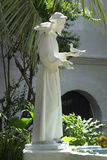 Statue of Saint Francis of Assisi in the Garden of San Diego Mission  California