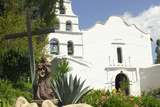 Statue of Father Junipero Serra in Front of San Diego Mission  First of the Spanish Missions in CA
