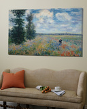 Feild of Poppies Toile Murale Géante par Claude Monet
